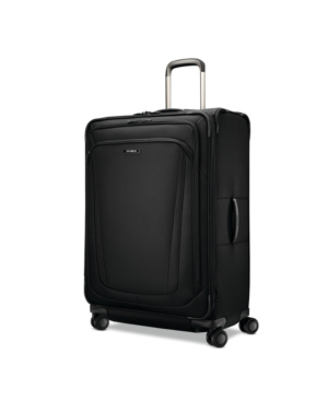 "Samsonite Silhouette 16 30"" Softside Expandable Spinner Suitcase In Obsidian Black"