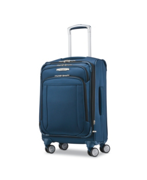 Samsonite Lite-air Dlx Carry-on Expandable Spinner Suitcase, Created For Macy's In Mediterranean Blue