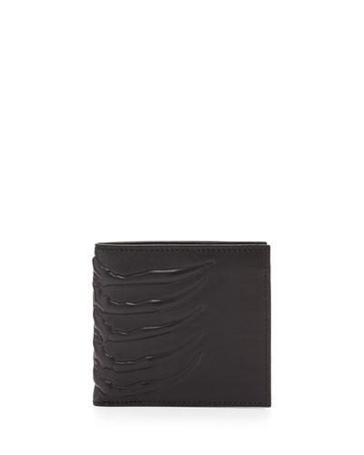 Alexander Mcqueen Black Leather Wallet
