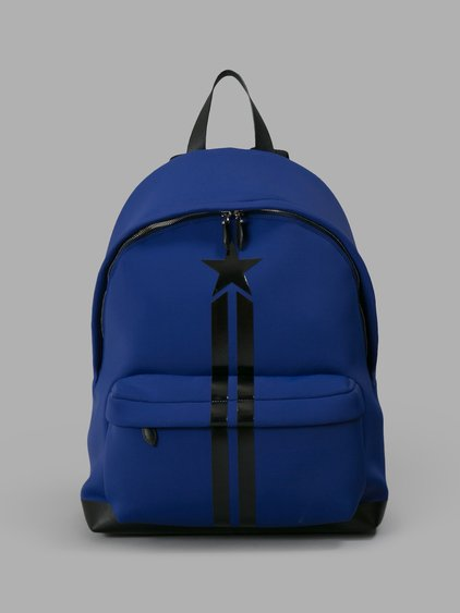 9042c64cc0 Givenchy  Star Stripe  Neoprene   Leather Backpack In Blue
