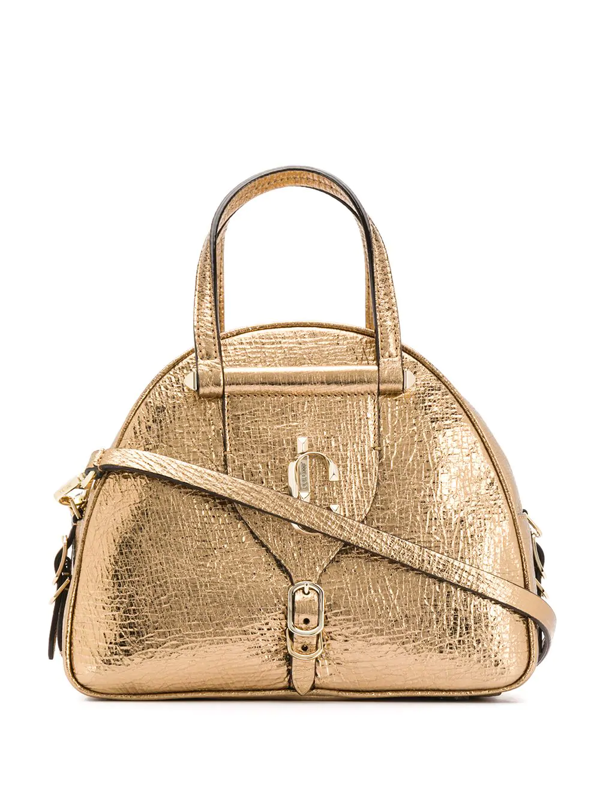 Jimmy Choo Small Varenne Bowling Tote In Gold