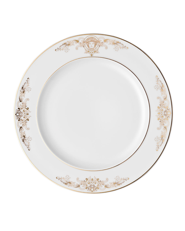 Versace Medusa Gala Salad Plate In White/gold
