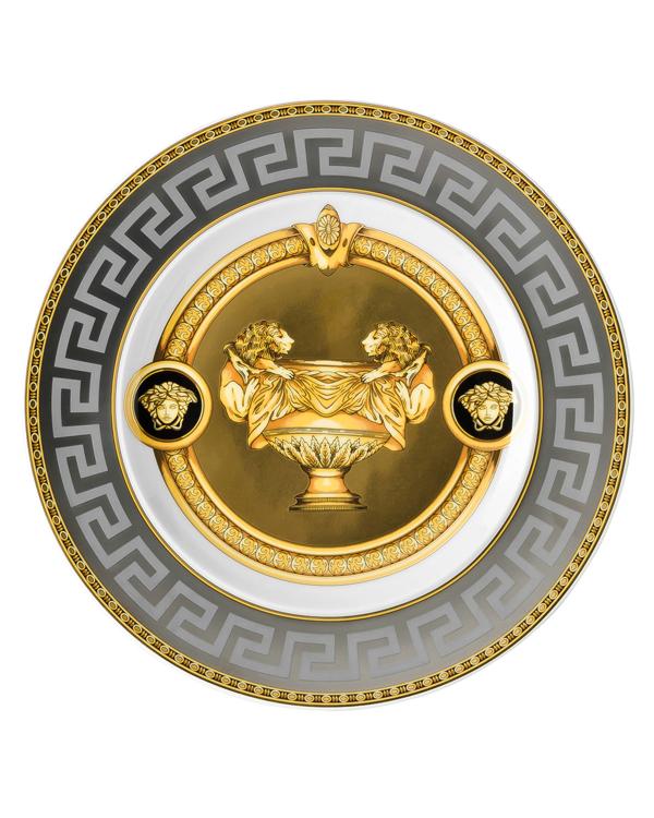 Versace Prestige Gala Bread & Butter Plate In Black/gold