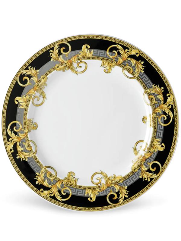 Versace Prestige Gala Porcelain Plate (27cm) In Weiss