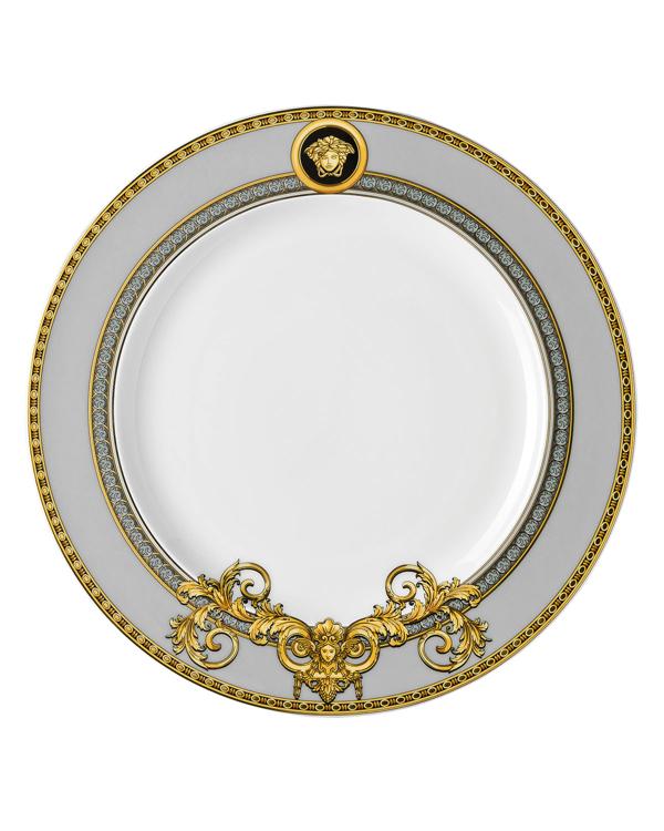 Versace Prestige Gala Salad Plate In Black/gold