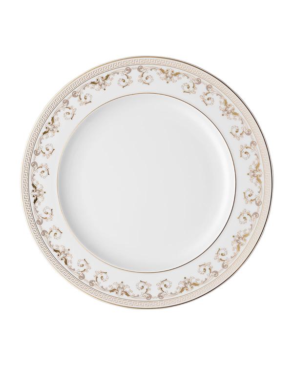 Versace Medusa Gala Dinner Plate In White/gold