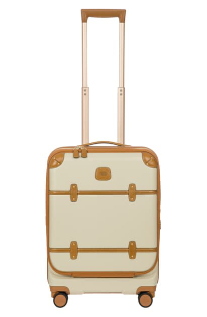 Bric's Bellagio 21 Carry On Spinner Trunk With Pocket In Cream