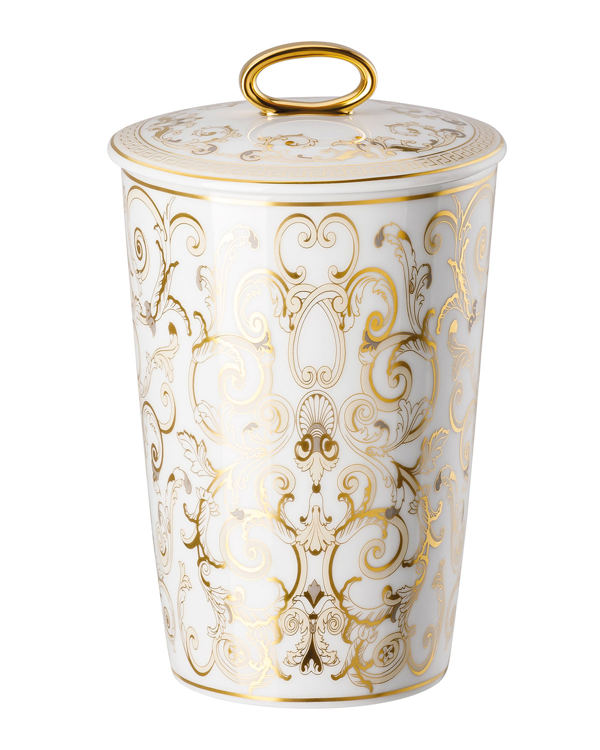 Versace Medusa Gala Scented Votive With Lid In White