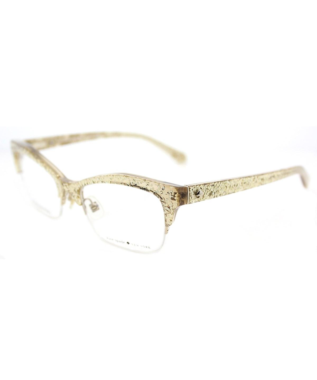 19dce9b98c Kate Spade Women Lyssa Cat-Eye Plastic Eyeglasses  In Gold Glitter ...