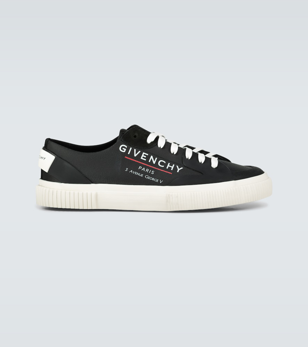 Givenchy Tennis Logo Light Sneakers In Black