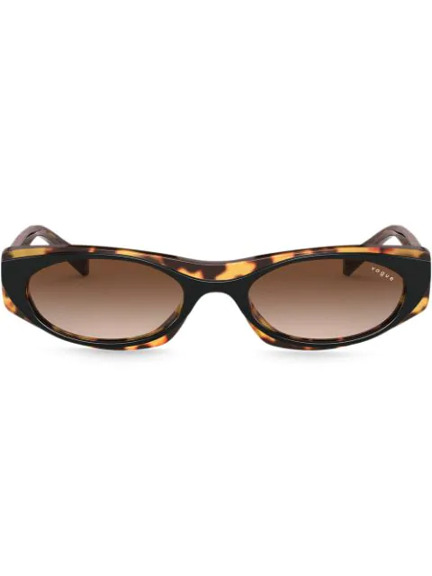 Vogue Eyewear Tortoiseshell Square Sunglasses In Black