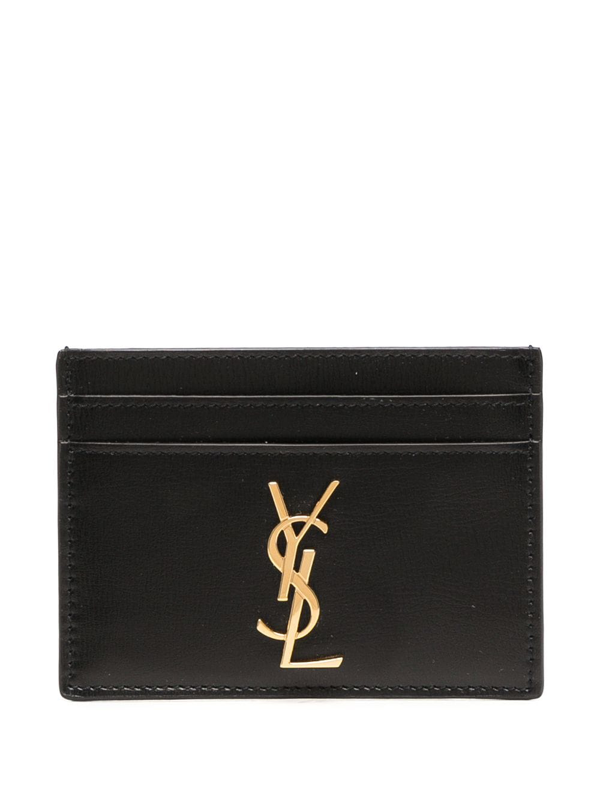 Saint Laurent Monogram Cardholder In Black