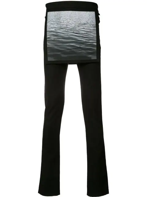 Raf Simons X Robert Mapplethorpe Waves Overlay Skinny Trousers In Black