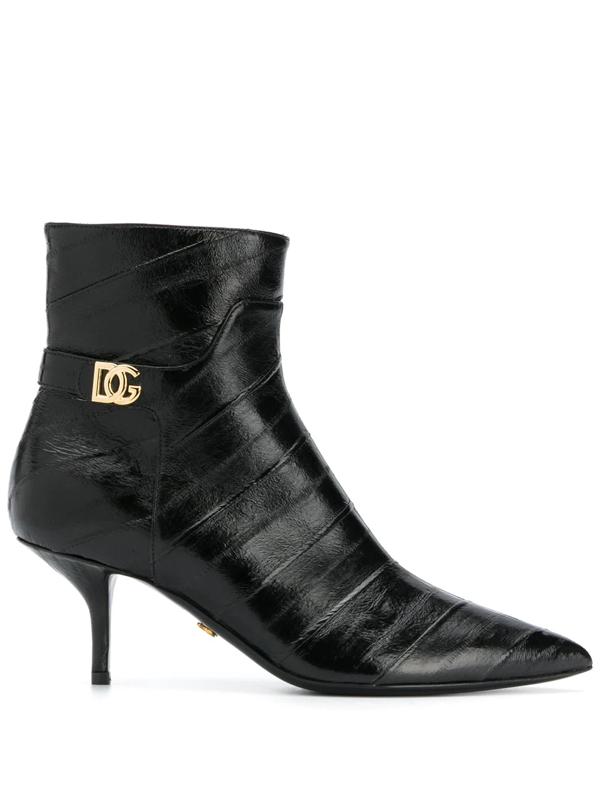 Dolce & Gabbana Dolce E Gabbana Women's Ct0700a8m2480999 Black Ankle Boots