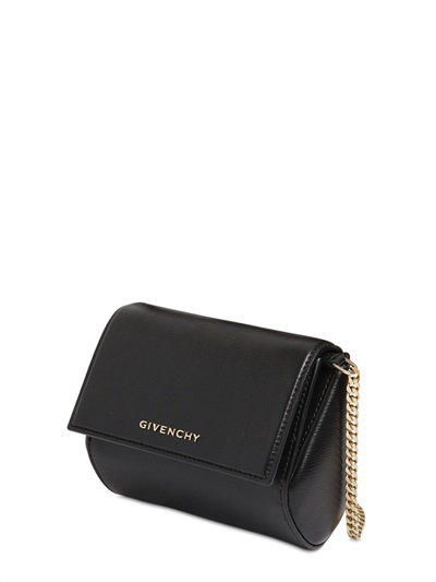 de350f046070 Givenchy Pandora Box Micro Leather Shoulder Bag In Black