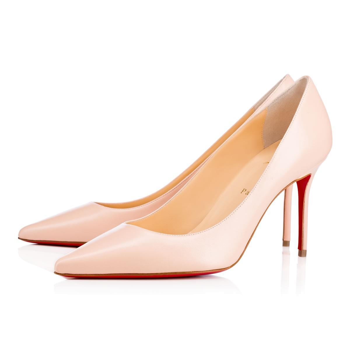 big sale 0c5eb 326c8 Decollete 554 85 Poudre Leather - Women Shoes - Christian Louboutin