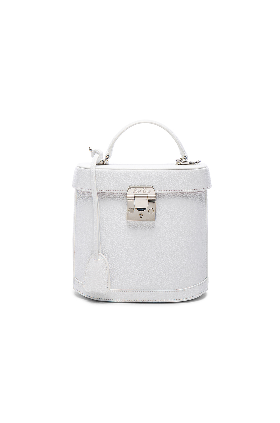 30ec3b250ce Mark Cross Benchley Textured-Leather Shoulder Bag In White