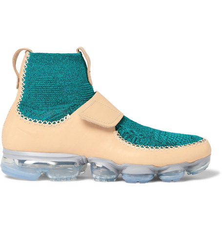 c4e30e03b2a Nike Air Vapormax Leather And Flyknit Sneakers