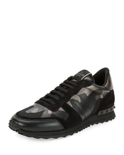 77ef4d0fe47 Valentino Camo Rockrunner Sneaker In Nero   ModeSens