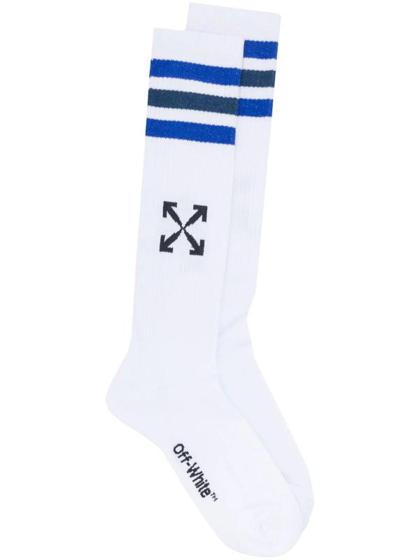 Off-white Arrows-motif Calf-length Socks In White