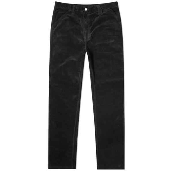 Pop Trading Company Hewitt Wide-leg Pleated Cotton-corduroy Suit Trousers In Black