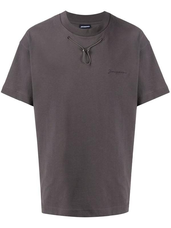 Jacquemus Drawstring Detail T-shirt In Grey
