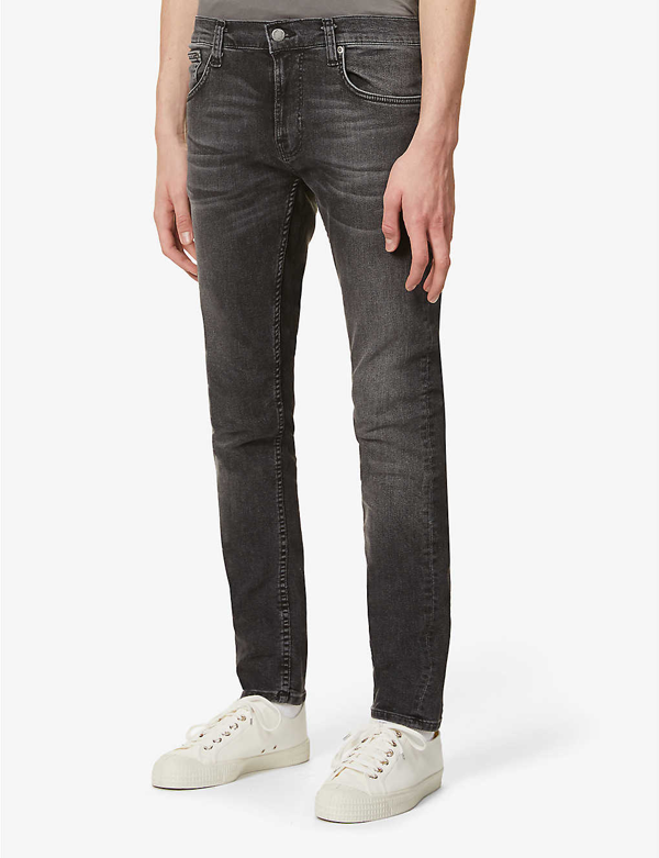 Nudie Jeans Tight Terry Skinny Jeans In Black Treats