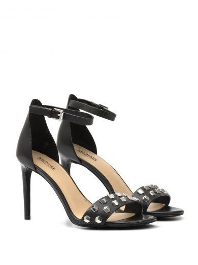 fd6b67e0a741f Michael Kors Valencia Black Studded Leather High Heel Sandals