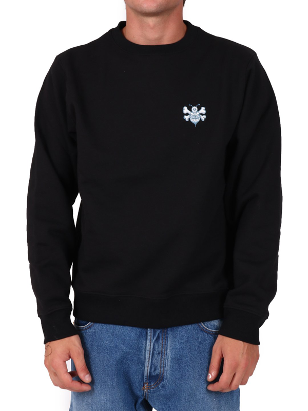Dior Left Chest Logo Sweatshirt In Black