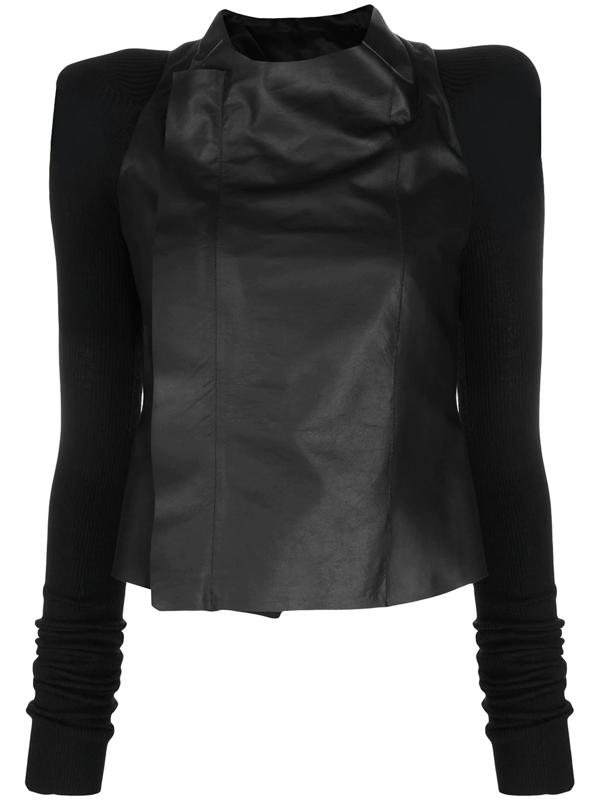 Rick Owens Cobra Biker Biker Jacket In Black