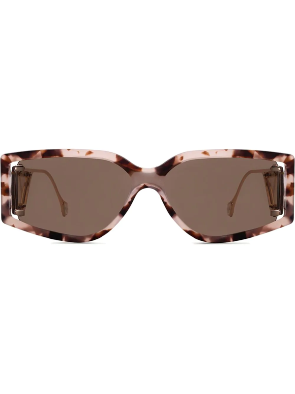 Fenty Women's Classified 60mm Oversized Rectangular Sunglasses In Brown
