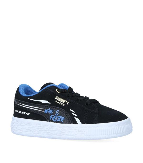 Puma Babies' X Sonic Suede Sneakers In Black