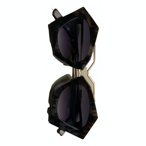 Pre-owned Kyme Grey Metal Sunglasses