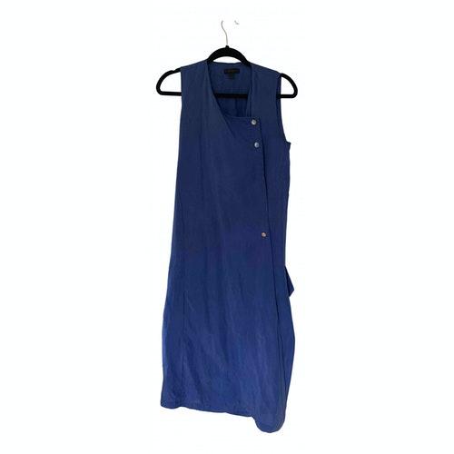 Pre-owned Belstaff Blue Silk Dress