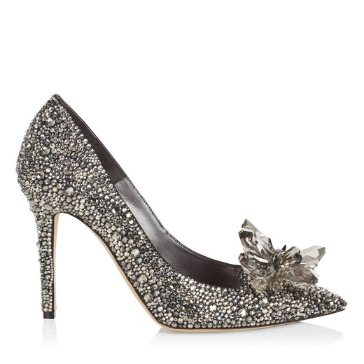 a4a97bd8fcd Jimmy Choo Avril Black Crystal Covered Pointy Toe Pumps