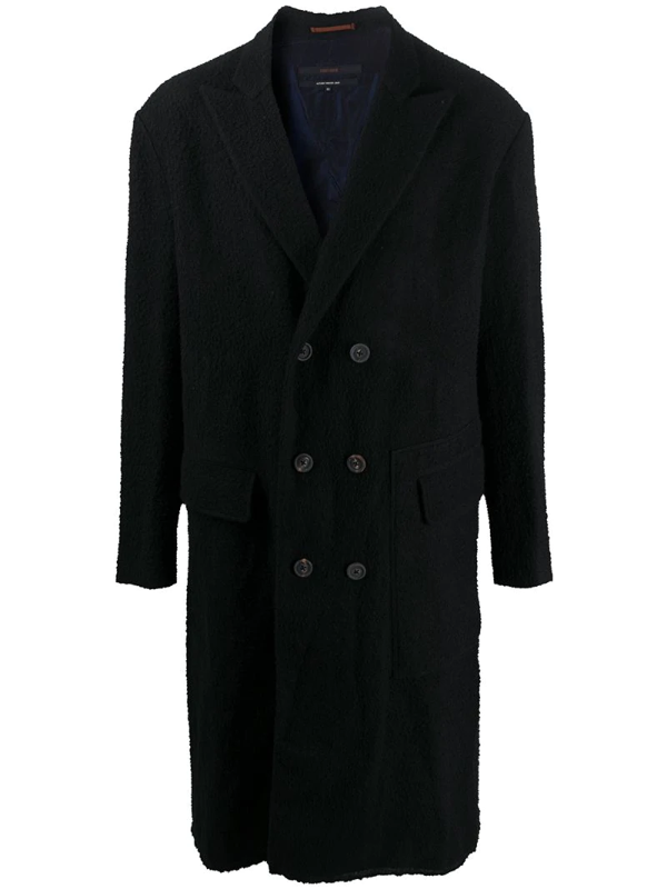 Ziggy Chen Double-breasted Coat In Blue