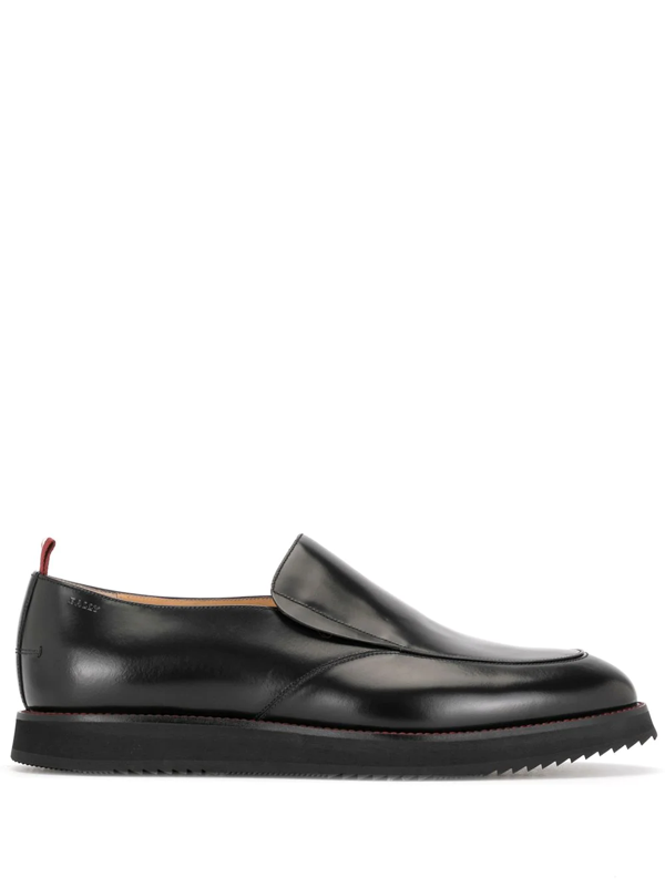 Bally Slip-on Leather Loafers In Black