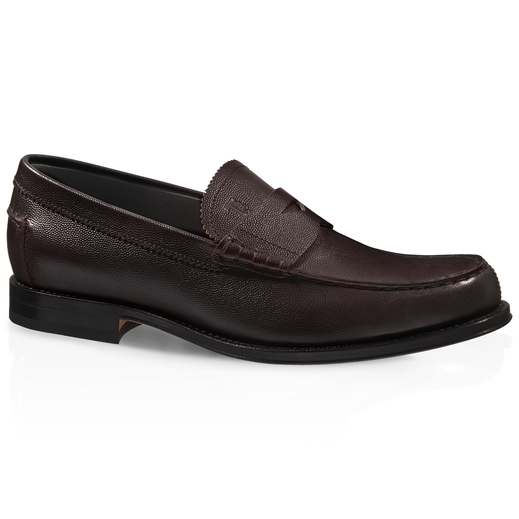 Tod's Leather Loafers In Brown
