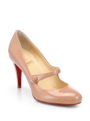 Sapato Christian Louboutin Mary Jane Listrado Original