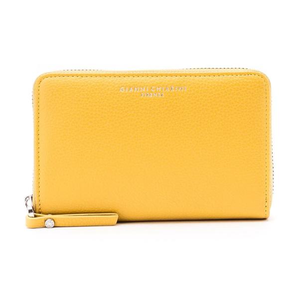Gianni Chiarini Leather Wallet In Yellow