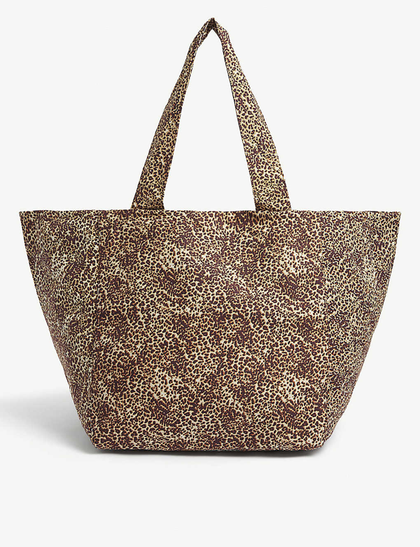 Faithfull The Brand Sorentto Cotton Tote Bag In Charlie Leopard
