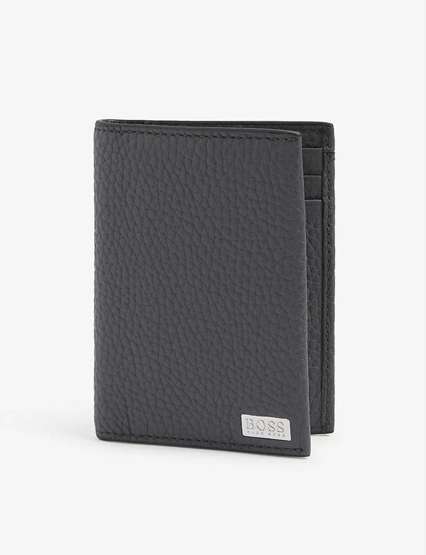 Hugo Boss Crosstown Branded Leather Bifold Cardholder