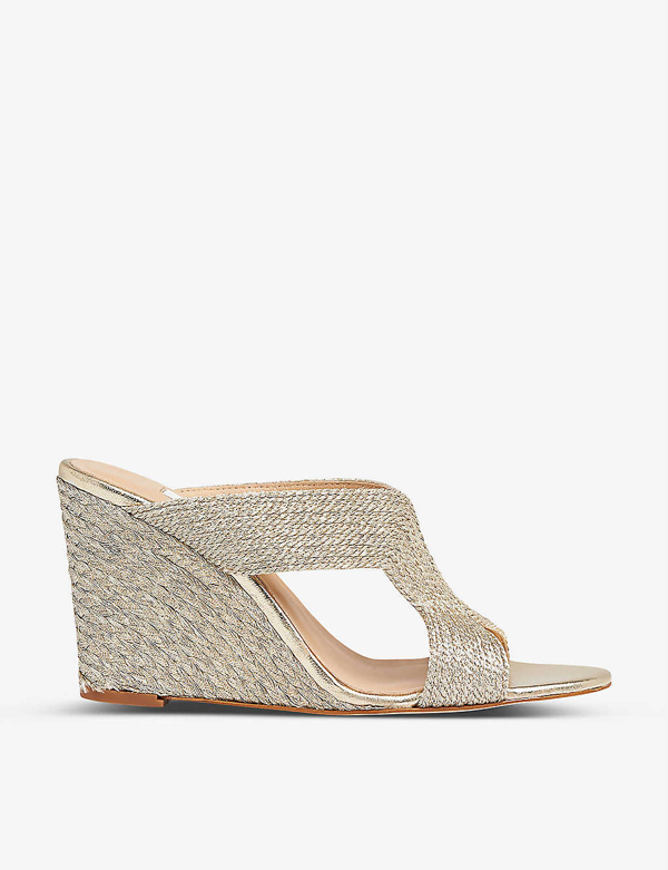 Lk Bennett Sonia Rope Wedge Sandals