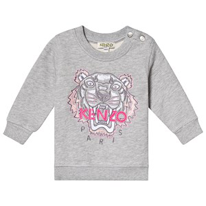 Kenzo Babies' Icon Tiger Cotton Sweatshirt 6-36 Months In Grey