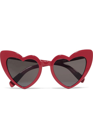 105079c34c5 Saint Laurent New Wave 181 Loulou Sunglasses In Shiny Red Acetate With Grey  Nylon Lenses