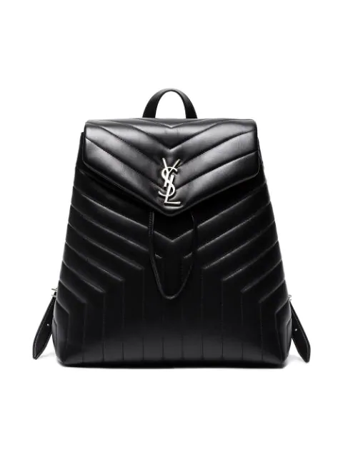0968a589aae Saint Laurent Loulou Monogram Ysl Medium Quilted Leather Backpack In Black