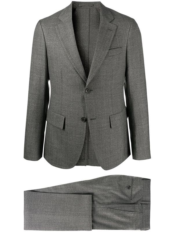 Salvatore Ferragamo Single-breasted Tailored Suit In Grey