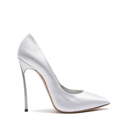 Casadei Contrast Stiletto Pumps In White-Silver