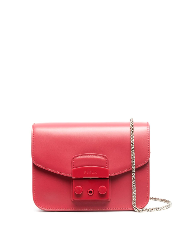 Furla Women's Mini Metropolis Leather Crossbody Bag In Red