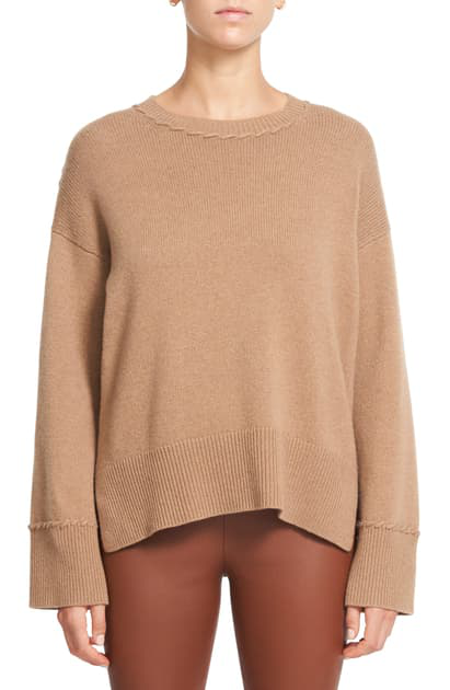 Theory Women's Karenia Cashmere Sweater In Soft Camel - Vk9